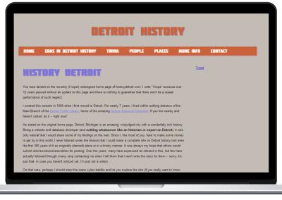 History Detroit